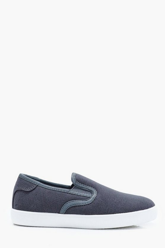 Boys Slip On Canvas Pump