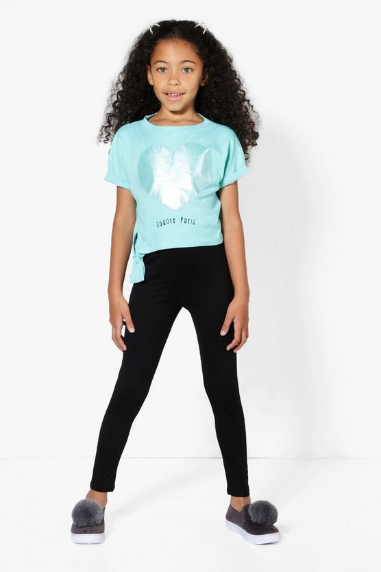 Girls Jadore Paris Tie Side Legging Set