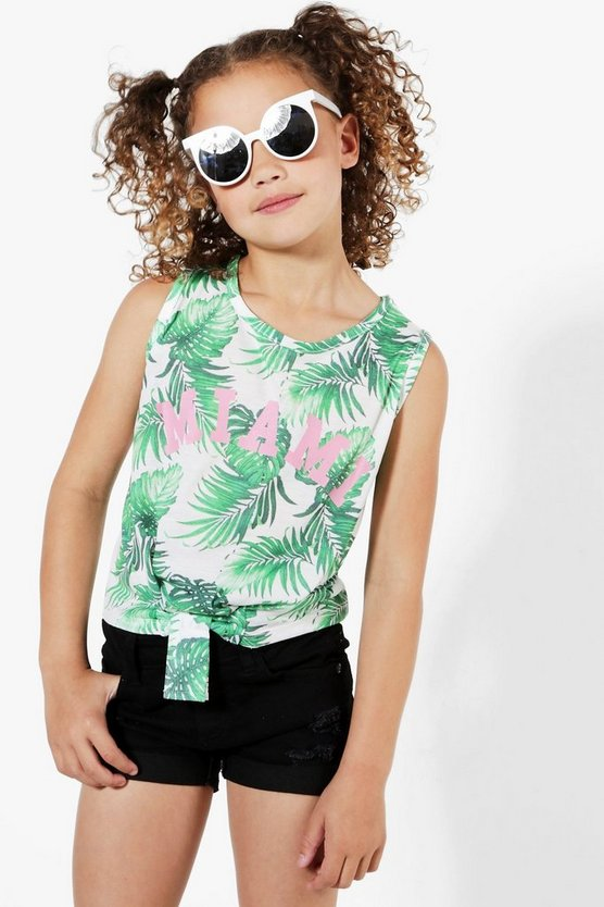 Girls Miami Tied Front Vest