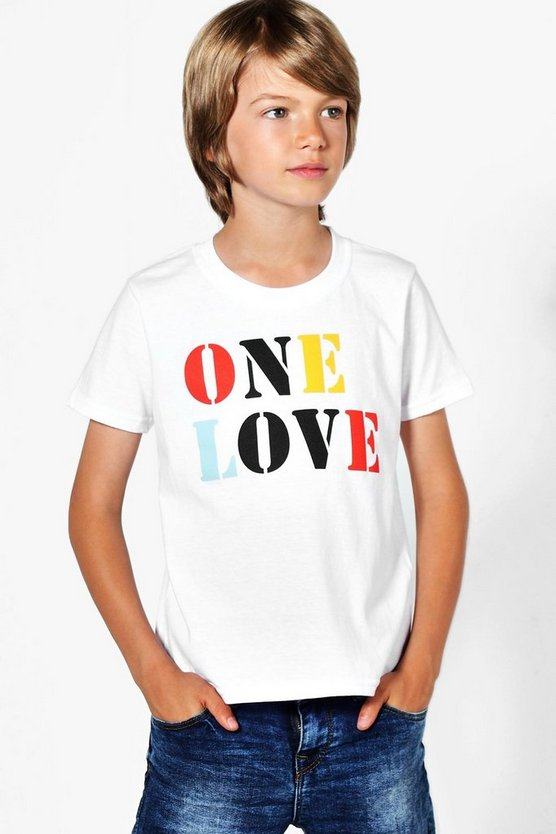 Charity Boys One Love Charity Tee