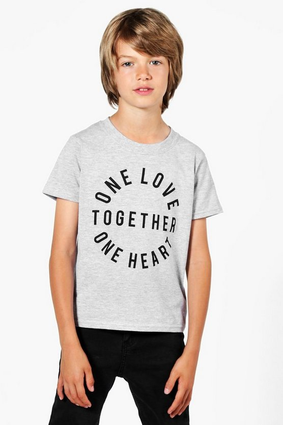Charity Boys One Love Together Circle Tee