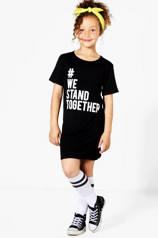 Charity Girls We Stand Together T-Shirt Dress