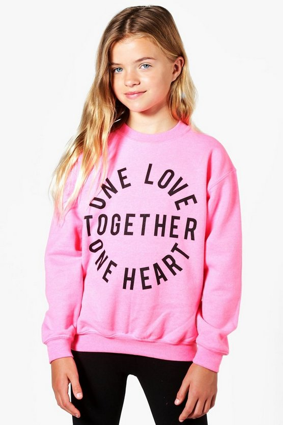 Charity Girls One Love One Heart Sweatshirt