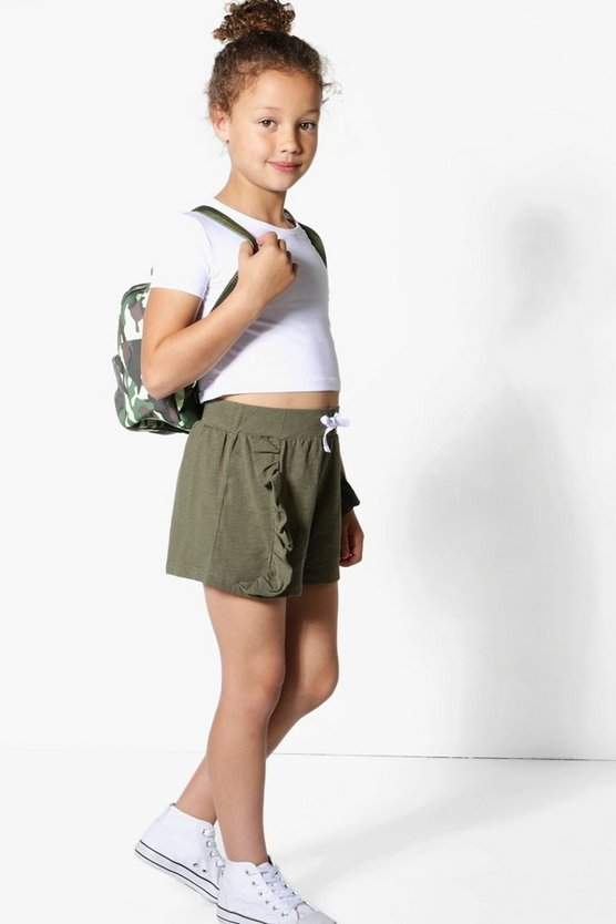 Girls Side Frill Shorts