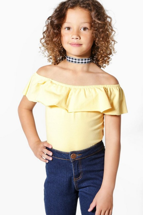 Girls Bardot Frill Body