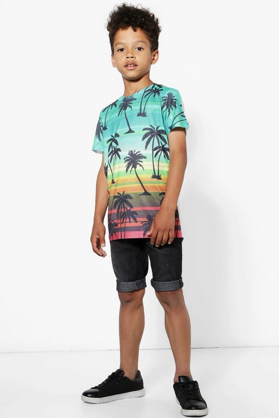 Boys Palm Tree Print Tee