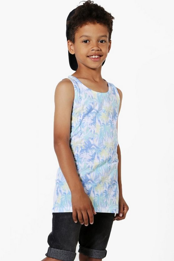 Boys All Over Palm Print Vest