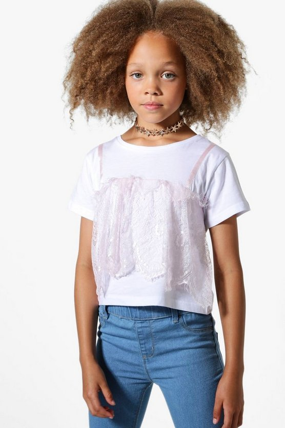 Girls Lace 2 In 1 Top