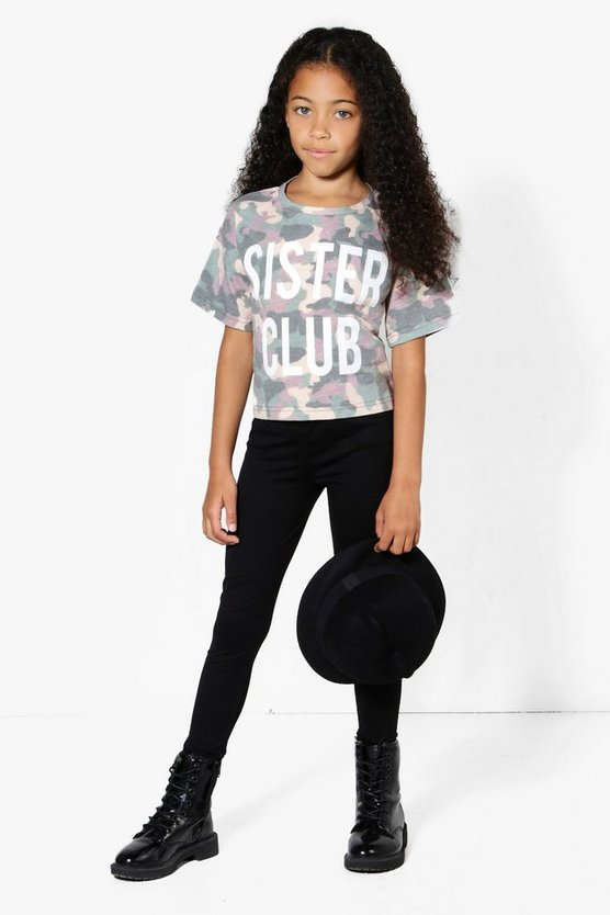 Girls Camo Sister Club Tee & Legging Set