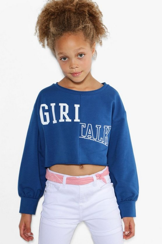 Girls Girl Gang Sweat Top
