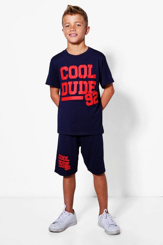 Boys Cool Dude 92 Tee & Short Set