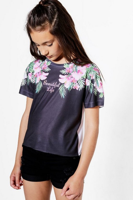 Girls Palm Beautiful Cropped Tee
