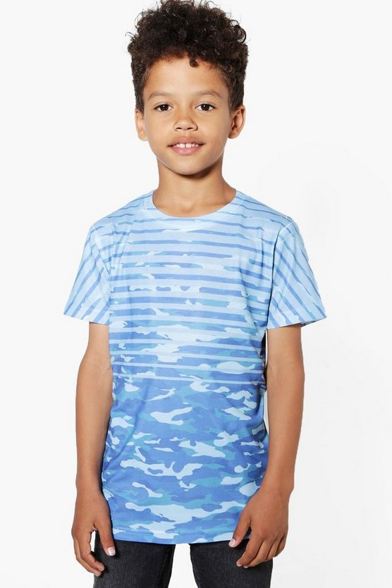 Boys Camo Stripe Tee