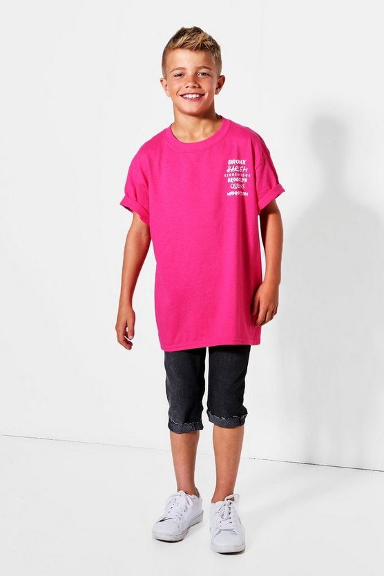 Boys NYC Neighbourhoods Tee