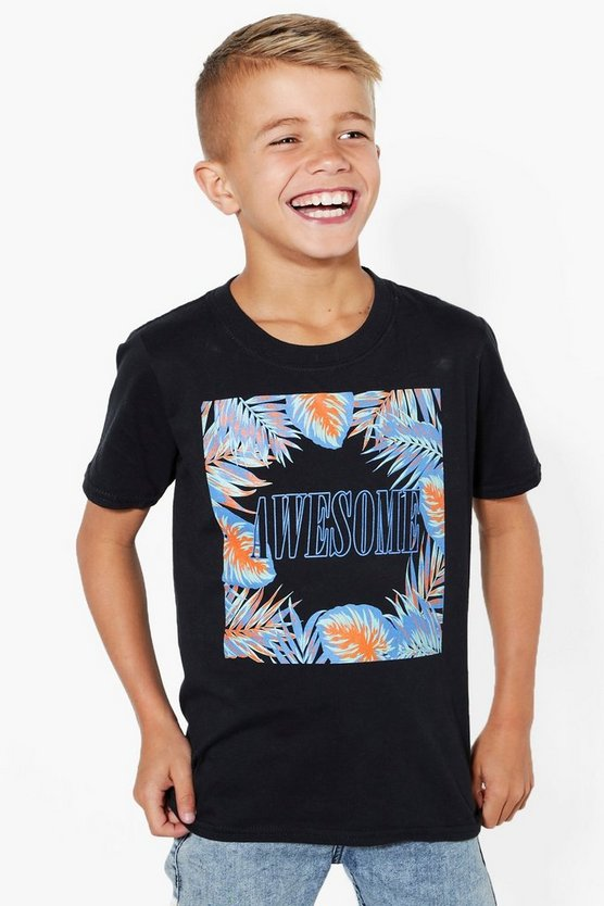 Boys Awesome Palm Print Tee