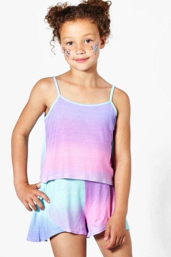 Girls Ombre Beach Top & Shorts Set