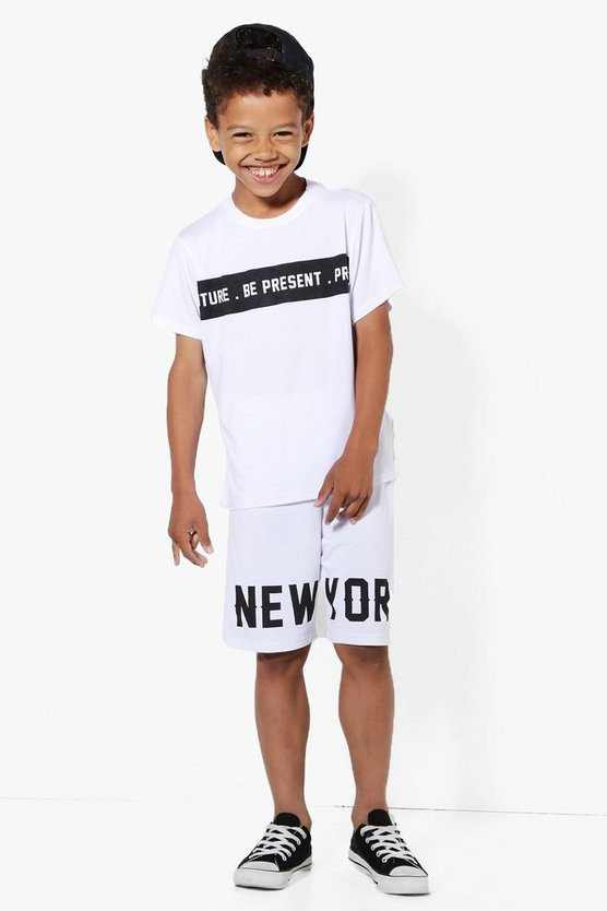 Boys New York T-Shirt and Shorts Set