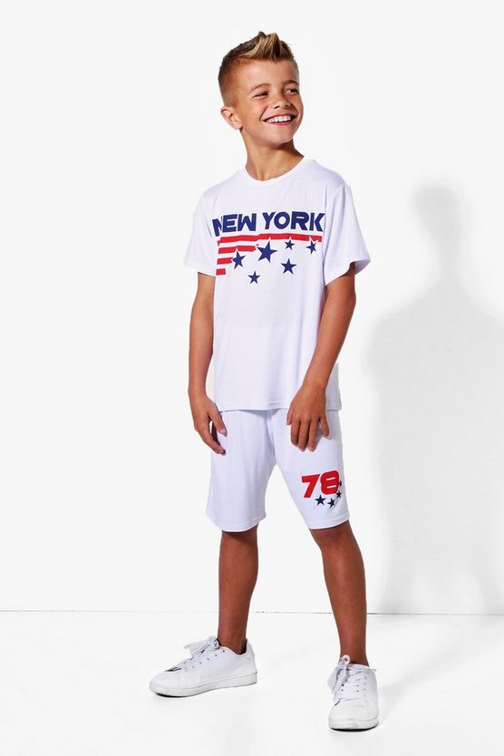 Boys New York 78 Tee and Shorts Set