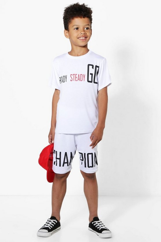 Boys Champion T-Shirt and Shorts Set