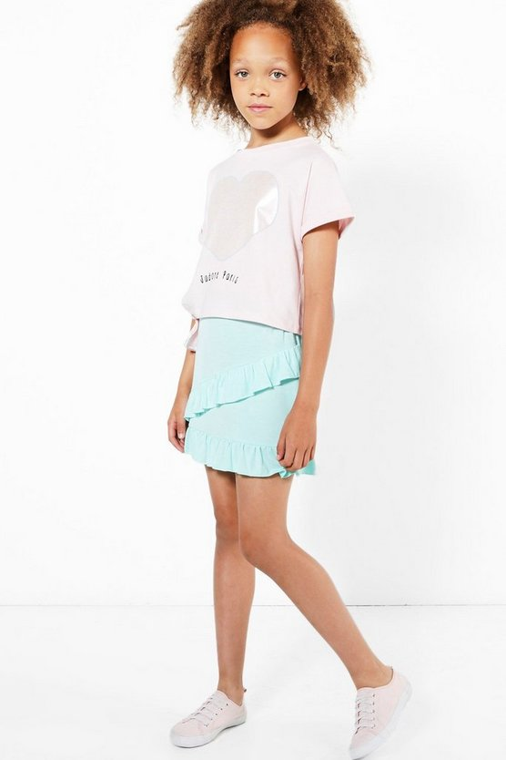 Girls Frill Front Skirt