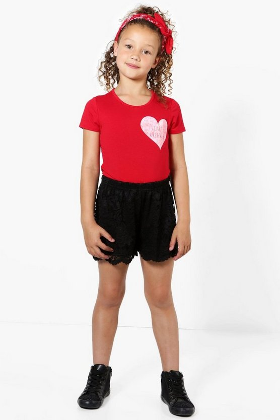 Girls Lace Festival Short