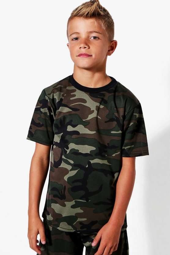 Boys All Over Camo Tee