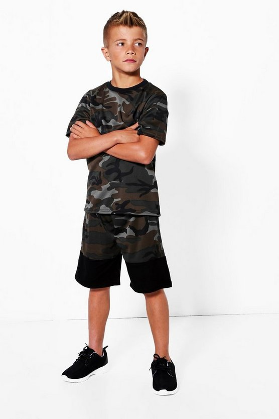 Boys All Over Camo Short