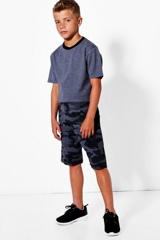 Boys All Over Camo Print Short