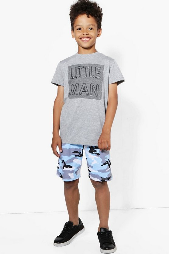 Boys Light Camo Short