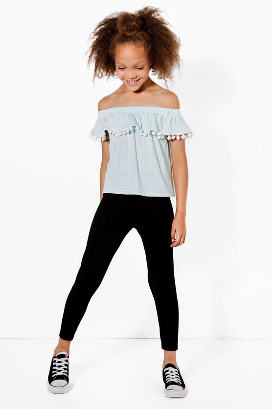 Girls Bardot Trim Top & Legging Set