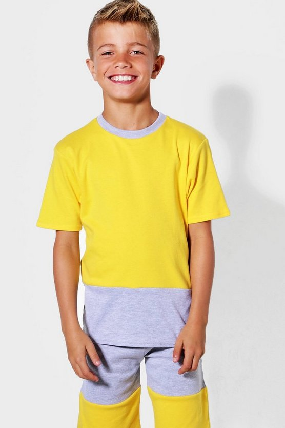 Boys Contrast Panel T-Shirt