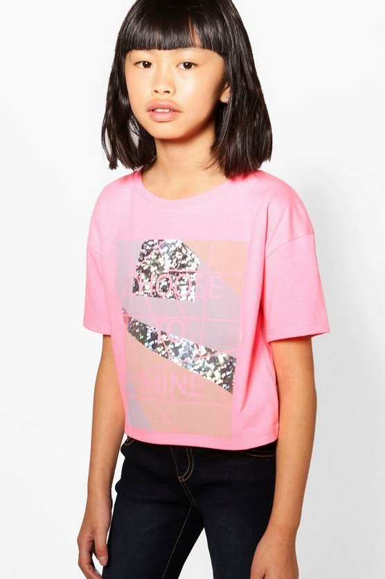 Girls Chose To Shine Cropped Tee