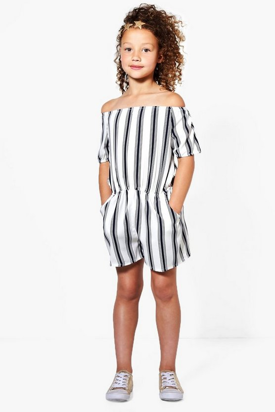 Girls Off The Shoulder Playsuit