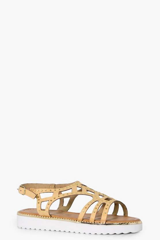 Girls Laser Cut Embellished Sandal