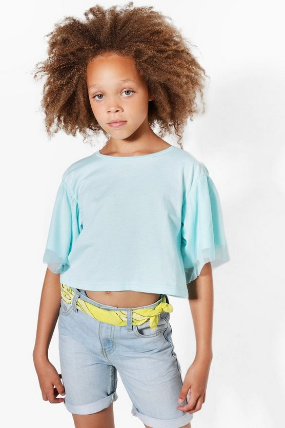 Girls Mesh Sleeve Top