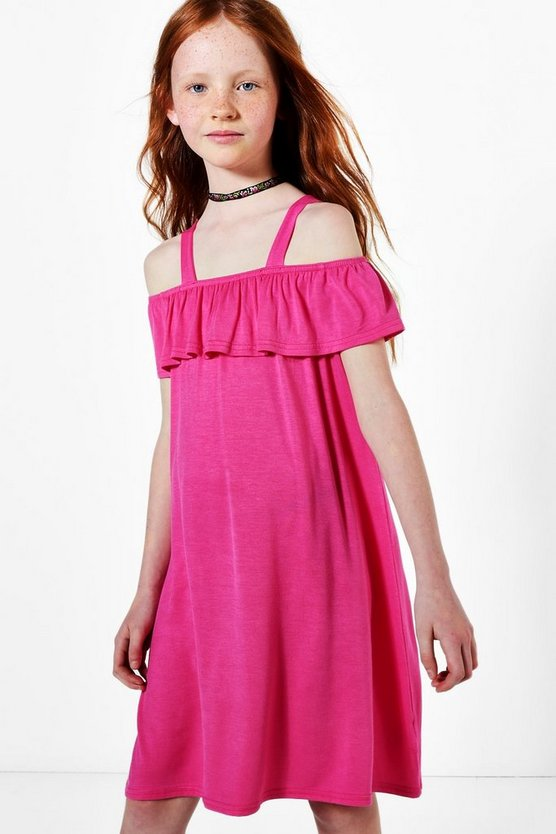 Girls Pink Swing Beach Dress