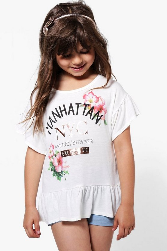 Girls Manhattan NYC Foil Tee