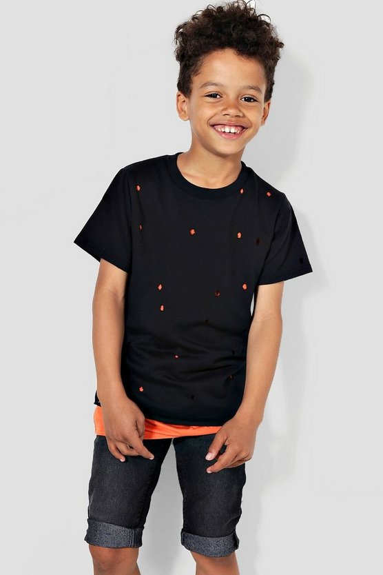 Boys Distressed Double Layer Tee