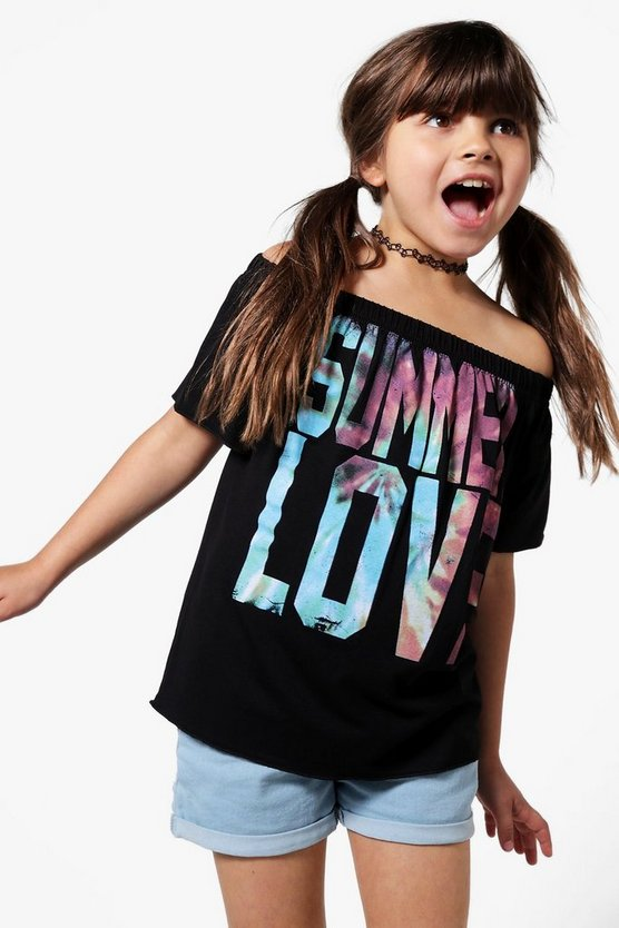 Girls Summer Of Love Bardot Top