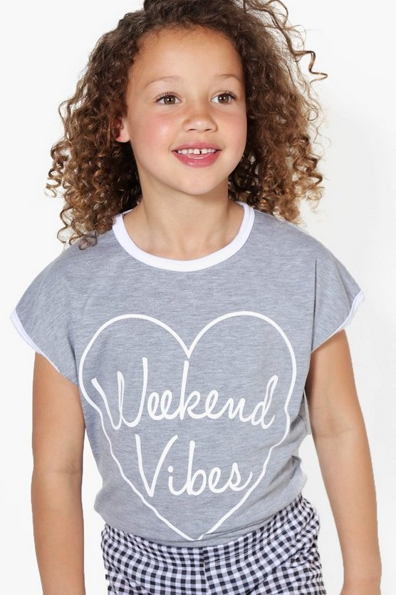 t-shirt weekend vibes pour filles