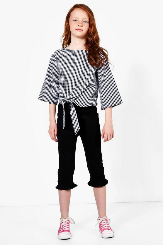 Girls Frill Hem Ponte Trouser