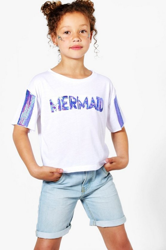Girls Mermaid Sequin Tee