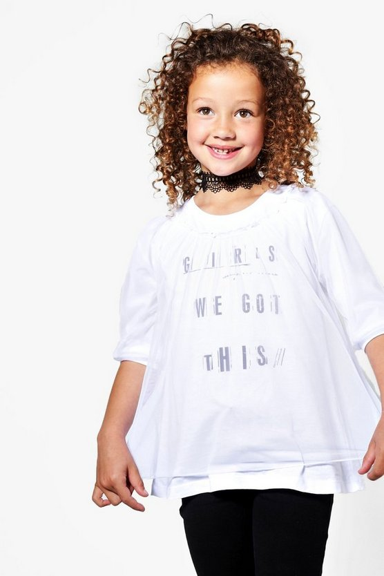Girls Double Layer Mesh Tee