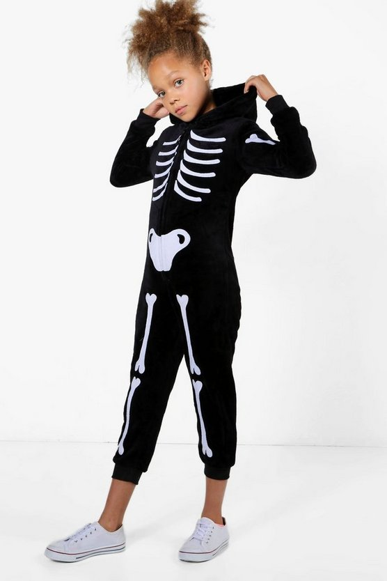 Girls Skeleton Halloween Onesie