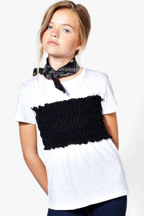 Girls Crop Top Layer Tee