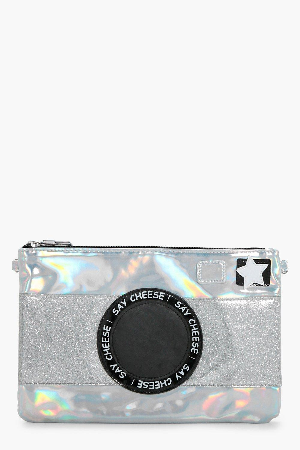 Camera Flash Metallic Bag - silver - Girls Camera