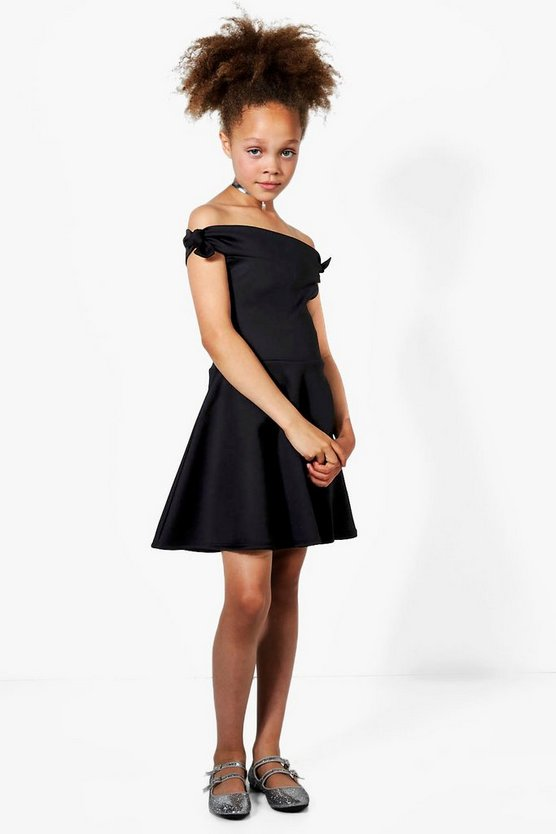 Girls Bardot Textured Dress