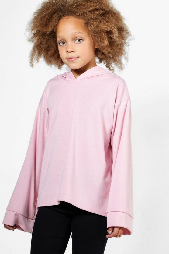 Girls Wide Sleeve Hooded Sweat Top