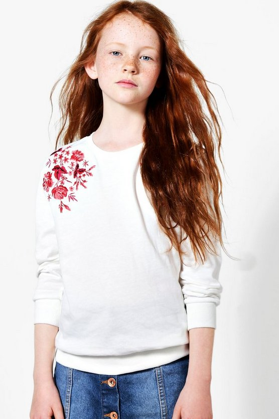 Girls Embroidered Sweat Top