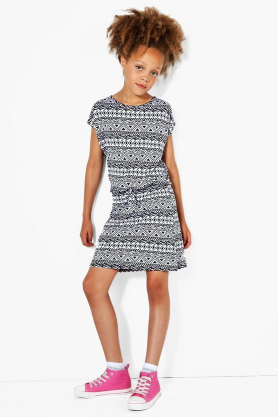 Girls Drawcord Jersey Dress